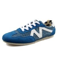 Letter M Decor Men Casual Flat Shoes Eu 39-44 Suede Leather Patchwork Lace-up Style Man Canvas Fashion Sneakers