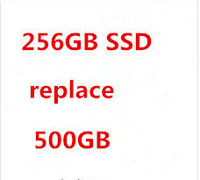 extra fee the specific laptop to be made with 256GB SSD to replace 500GB HDD in the laptop