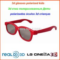 20pcs/lot Passive 3D Glasses Polarized Kids Plastic frame Glasses for Children 3D Polarized