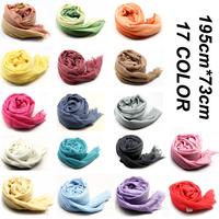 195*73cm long free shipping fashion women 2014 brand women winter scarf solid wrap color Modal Viscose Wool women winter scarf