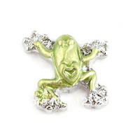 20pcs/lot Free Shipping Wholesale Alloy Diy Enamel Frog Floating Charm For Origami Owl Memory Living Locket