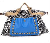New Arrival 2014 Top Selling National Ethnic Style Women Shoulder Bags Vintage Women Messenger Bag Rivet Canvas Handbags