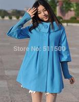 Korean version new Slim ladies large lapel woolen cape coat women's long section thick winter coat plus size poncho jacket women