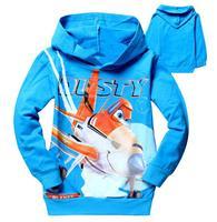 Children Clothing Autumn Hoodies Cartoon DUSTY PLANE Fashion Sport hoody cotton sweatshirts 5pcs/lot