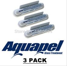 USA  3x  AQUAPEL APPLICATIONS Windshield Glass Water Rain Repellent TREATMENT Repels Free Shipping(China (Mainland))
