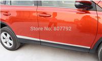 Stainless steel Body Side Door Molding trim 4pcs/set For 2013 2014 Toyota RAV4