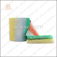 Free Shipping  Plastic Rhinestone Crystal Diamond Mesh Wrap Roll High Quality  Wedding and DIY Decoration Multicolor
