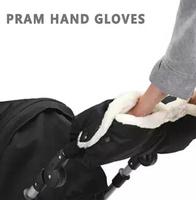 Baby Buggy Cart Muff Glove Baby Stroller Accessories Winter Waterproof Anti-Freeze Pram Hand Muff Baby Carriage Gloves SRST5001