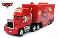 Free Shipping Pixar Cars 2 Mack Truck Hauler small car red Toys car Diecast Metal Car Toy  1set