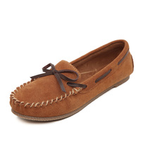 Women 2014 Fashion Loafers Genuine Leather Velvet Suede Ladies Flats Driving Walking Shoes Mocassin Female Slip On
