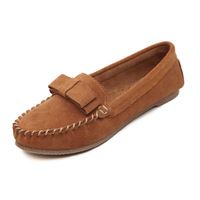 2014 Spring Autumn Casual Genuine Leather Women Loafers Shoes Velvet Suede Flats Ladies Driving Moccasins Female Slip On