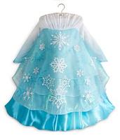 1PCS new 2014 Frozen Elsa Anna costume princess dress sequined luxury party dresses lace blue Free shipping girls dresses