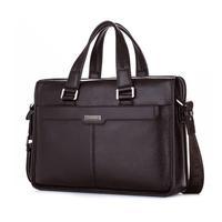 2014 New Fashion Man Handbag Genuine Leather Business Messenger Bag Men Computer Shoulder Bag