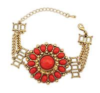 Vintage Flower Charm Bracelet Fashion Statement Bracelet Bangle New Women Accessories BJ904525