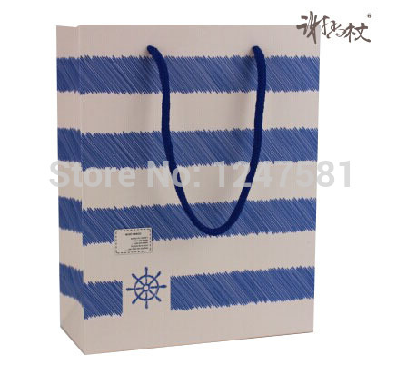 good quality cheap custom promotion paper bag with handles wholesale creative package bag with CMYK printing from China supply(China (Mainland))