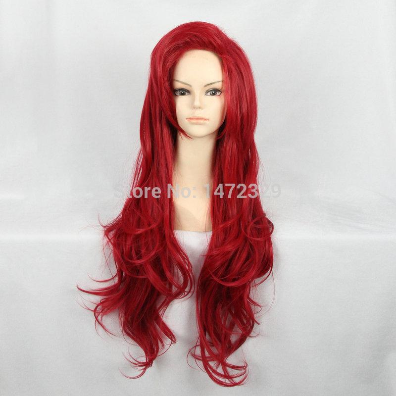Русалочка ариэль принцесса Cos парик красный волнистые длинные 70 см женщин мода ложные волос бесплатная доставка плутон ZY-91
