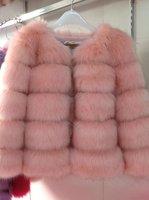2014 Winter New Arrive Women Fox Fur Coat Short Design Faux Outerwear 7 Color 4 Size Elegant Quality Fur Coat Free Shipping
