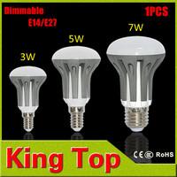 High power Dimmable 3W 5W 7W E14 E27 AC185V - 265V Umbrella LED lamps 2835SMD LED bulb light pendant lights R39 R50 R63