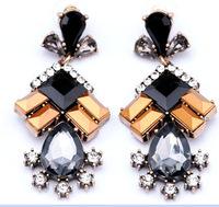 Luxe Faux Stone Geometric Dangle Earrings Brand Jewelry New Fashion Statement Earrings for Women BJE1339