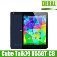 Cube Talk79 Talk 79 U55GT-C8 MT8392 Octa Core 3G Tablet PC Phone Call 7.9inch 2048x1536 IPS 8.0MP Camera 2GB/16GB Android 4.4