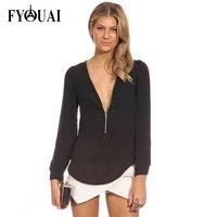 FYOUAI NEW 2014 Women Chiffon T Shirts European style Fashion Causal Long-sleeves T Shirts Women Top Clothing
