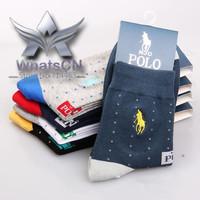 High Quality Men's Socks100% cotton classic Dot pattern men's socks warm Casual adults Stripes HJC Polo Brand socks Sport Sock