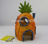 "Large 19cm / 8"" H SpongeBob Pineapple House Home Fish  Aquarium Ornament Decor Resin Decoration"