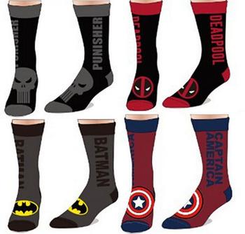 Хлопок жаккардовые мужские носки из мститель союз капитан америка супермен Batmen ...