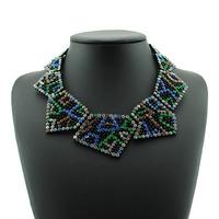 2014 New Arcylic Bohemia Big Bead Bubble Hamsa Choker Pendant Necklace Long Rope Bridal Costume Body Collar Chain Jewelry