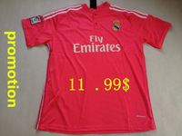 promotion !!   Good  Quality  Real Madrid  pink  2014-2015   Football  shirt  Soccer  jersey   Free Shipping