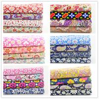 FREE SHIPPING 6 sets/lot 45cmx50cm Cotton Poplin Fabric Fat Quarter Bundle Children Clothing Patchwork Fabric For Sewing W4B1-7