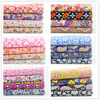 FREE SHIPPING 6 sets/lot 45cmx50cm Cotton Poplin Fabric Fat Quarter Bundle Children Clothing Patchwork Fabric For Sewing W4B1-7