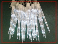 Free drop shipping 3pcs 30cm Chirstmas Icicle Light Sets , 5M String , White Blue Multi color,  Garden Decoration ,3 sets/Lot