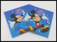 Food-grade Cartoon Paper Napkin For Children Festive & Party Tissue Napkisn Supply Party Decoration Paper 33cm*33cm 1pack/lot