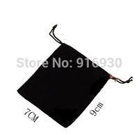 10 Pcs/Lot 7x9cm Black flannelette Drawstring Pouch Bag/Jewelry Bag,Christmas/Wedding Gift Bag Free Shipping #111