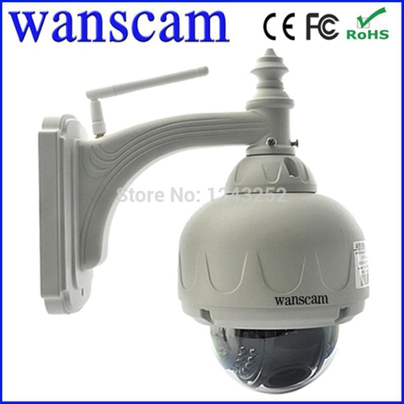Free Shipping Wanscam High Definition 3x Varifocal Zoom CCTV camera PTZ H.264 IR Cut WiFi Outdoor Security Network IP Camera(China (Mainland))
