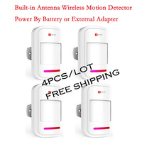 4PCS/Lot Kerui Wireless Infrared Motion Sensor for Home/Warehouse Security Alarm System,Power by Battery or External Adapter