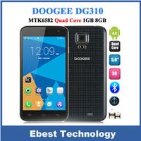 In Stock Original DOOGEE VOYAGER2 DG310 MTK6582 Quad Core Smartphone Android 4.4 5.0 Inch IPS 1GB RAM 8GB ROM 5MP Wake Gesture