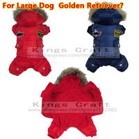 BIG DOG CLOTHES  Golden Retriever USA Air Force Design Pet Winter Coat, Dog Warm Clothes Jumpsuits 2XL ~ 5XL  Free Shipping