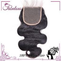 9A Best selling Brazilian Virgin Hair Free Part Lace Closure Swiss Lace Hair Closure 4x4 ,Virgin Human Hair Body Wave Free DHL