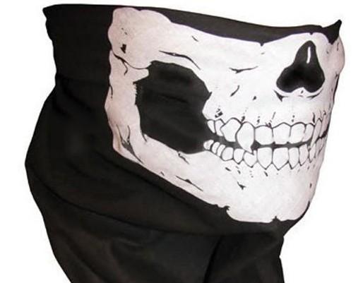 Skull Bandana Bike Motorcycle Helmet Neck Face Mask Paintball Ski Sport Headband Free shipping(China (Mainland))