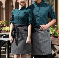 FREE SHIPPING fashion short hotel apron coffee bar apron