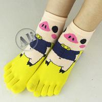 NEW Antibacterial MS Breathable Short Tube Cotton Five Toe Socks Leisure socks 5Pair Free Shipping
