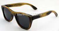 2014 New Fashion Sunglasses Handmade Bamboo Sunglasses With Grey Lens Men Branded Polarized Eyewear 6016