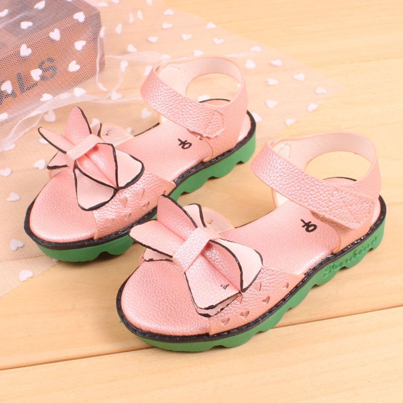 Лето девочка в сандалии лето обувь цветок и бабочка сандалии для девочки пункт : wwl-A8