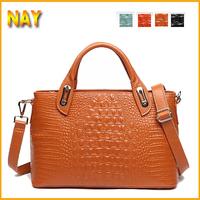 Fashion Women Handbags Crocodile Pattern Women Cow Leather Handbag Vintage Shoulder Bag Crossbody Women Messenger Bag Tote