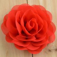 "3.15"" Chiffon Silk DIY Rosette Flowers Hair Accessories For Headbands Garment Accessories 200pcs/lot FH28"