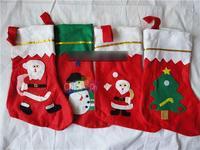 2014 New Large Christmas Xmas Santa Stocking Haning Gift Pocket Holder for Child
