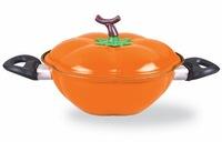 Personality Pumpkin Pot Creative Promotional Lowest Price Pot Sopera Calabaza  Cast Iron Soup Pot Wedding Party Supplies
