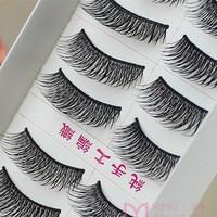 10Pair/Lot Natural False Eyelashes make up tools Mink Eyelash Lashes Voluminous Makeup Tail Winged F46